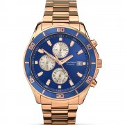 Sekonda Chronograph Blue Dial Rose Gold Bracelet Gents Watch 1141