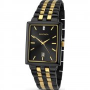 Sekonda Classic Black Dial 2 Tone Bracelet Mens Watch 1045