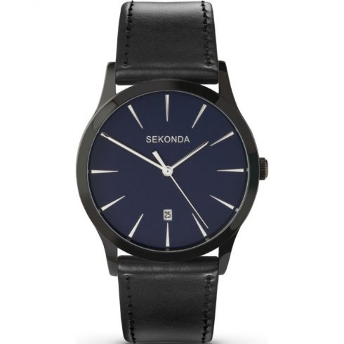 Sekonda Classic Blue Dial Black Strap Mens Watch 3536