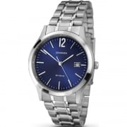 Sekonda Classic Blue Dial Stainless Steel Bracelet Mens Watch 3728