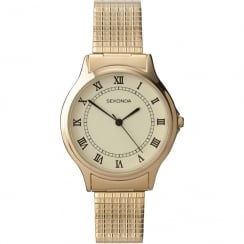 Sekonda Classic Cream Dial Gold Expander Bracelet Gents Watch 3024B