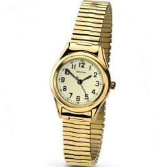 Sekonda Classic luminous Dial Gold Expander Ladies Watch 4244