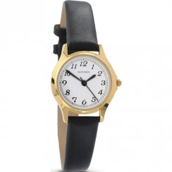 Sekonda Classic White Dial Black Strap Ladies Watch 4134