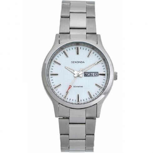 Sekonda Classic White Dial Stainless Steel Bracelet Gents Watch 1471