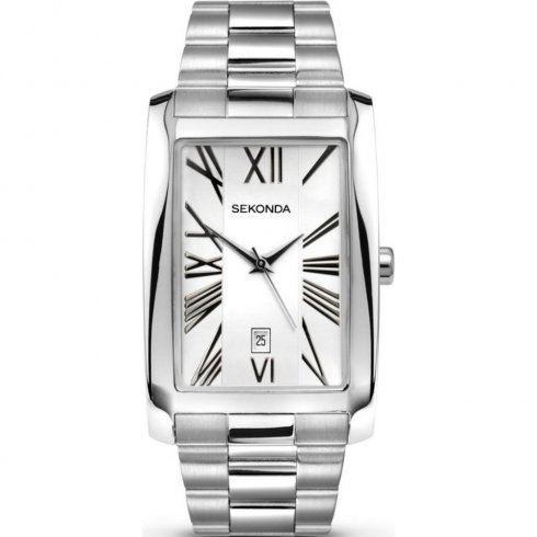 Sekonda Classic white dial stainless steel bracelet Mens watch 3633
