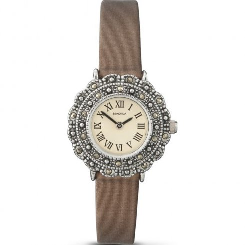 Sekonda cream dial leather strap Ladies watch 4078