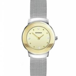 Sekonda Cream Dial Stainless Steel Mesh Strap Ladies Watch 2503