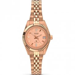 Sekonda Diamond Rose Gold Dial Stainless Steel Bracelet Ladies Watch 2063
