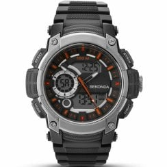 Sekonda Dual Display Digital Chronograph Resin Strap Gents Watch 1160