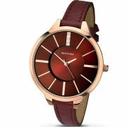 Sekonda Editions Burgundy Dial Burgundy Strap Ladies Watch 2245