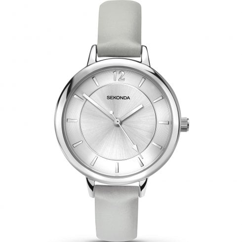 Sekonda Editions Silver Dial Light Grey Strap Ladies Watch 2507