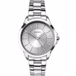 Sekonda Editions Silver Dial Stainless Steel Bracelet Ladies Watch 2455