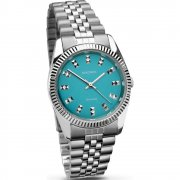 Sekonda Editions teal dial stainless steel bracelet Ladies watch 2067