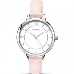 Sekonda Editions White Dial Pink Strap Ladies Watch 2506