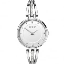 Sekonda Editions White Dial Semi Bangle Bracelet Ladies Watch 2467