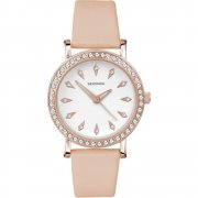 Sekonda Editions white dial upper leather strap Ladies watch 2027