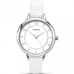 Sekonda Editions White Dial White Strap Ladies Watch 2504