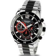 Sekonda Endurance black dial chronograph stainless steel bracelet Mens watch 3420