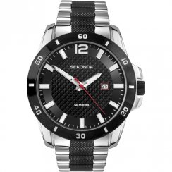 Sekonda Endurance Black Dial Stainless Steel Bracelet Mens Watch 3491