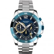 Sekonda Endurance Chronograph Blue Dial Stainless Steel Bracelet Gents Watch 1443
