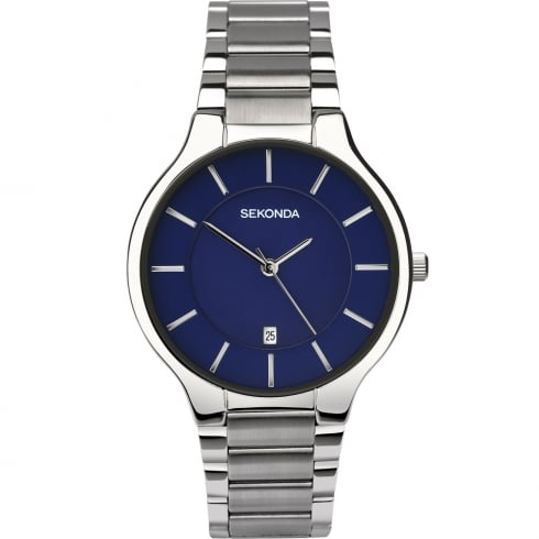 Sekonda Equinox Blue Dial Stainless Steel Bracelet Gents Watch 1383