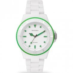 Sekonda Frost White & Green Polycarbonate Bracelet Ladies Watch 4771
