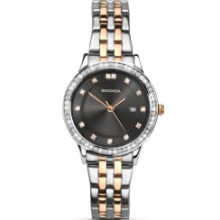 Sekonda Harmony Grey Dial 2 Tone Bracelet Ladies Watch 2389