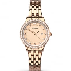 Sekonda Harmony Rose Gold Dial Rose Gold Bracelet Ladies Watch 2391