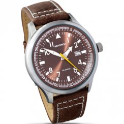 Sekonda Military Bronze Dial Brown Leather Strap Mens Watch 3882