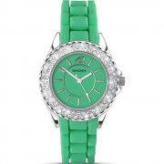Sekonda Party Time green dial rubber strap Ladies watch 4315