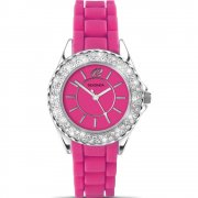 Sekonda Party Time Pink Dial Rubber Strap Ladies Watch 4307