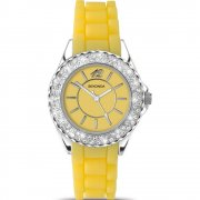 Sekonda Party Time Yellow Dial Yellow Rubber Strap Ladies Watch 4450