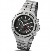 Sekonda Chronograph black dial stainless steel bracelet Mens watch 3396