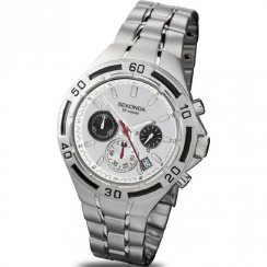 Sekonda Chronograph white dial chronograph stainless steel bracelet Mens watch 3395