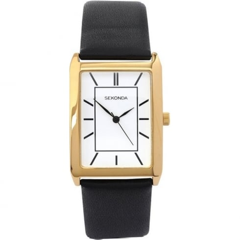Sekonda Classic White Dial Black Strap Gents Watch 3283