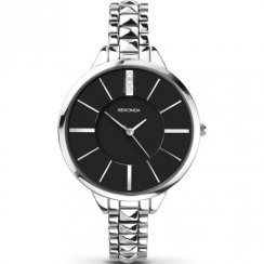 Sekonda Editions Black Dial Stainless Steel Bracelet Ladies Watch 2035