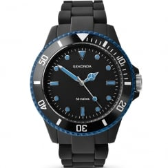 Sekonda Frost Black & Blue Polycarbonate Bracelet Ladies Watch 4777