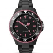 Sekonda Frost Black & Pink Polycarbonate Bracelet Ladies Watch 4775