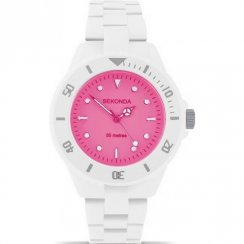 Sekonda Frost Pink Dial White Polycarbonate Bracelet Ladies Watch 4614