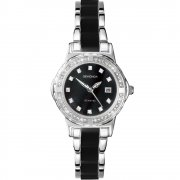 Sekonda Twilight Pearl black dial stainless steel bracelet Ladies watch 4084