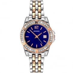 Sekonda Twilight Pearl Blue Dial Two Tone Bracelet Ladies Watch 2407