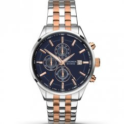 Sekonda Velocity Chronograph Blue Dial Two Tone Bracelet Gents Watch 1107