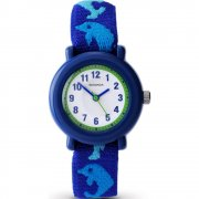 Sekonda White Dial Blue Dolphin Fabric Strap Kids Watch 4628