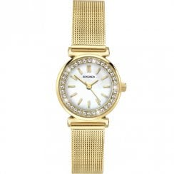 Sekonda White Dial Gold Mesh Ladies Watch 2408