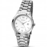 Sekonda White Dial Stainless Steel Bracelet Mens Watch 3729