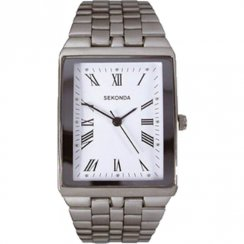 Sekonda White Dial Stainless Steel Bracelet Unisex Watch 3616