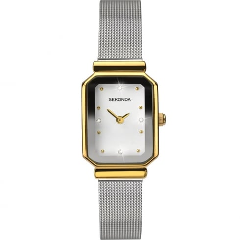 Sekonda White Dial Stainless Steel Mesh Strap Ladies Watch 2464