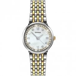 Sekonda White Dial Two Tone Bracelet Ladies Watch 2406