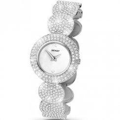 Seksy Elegance White Dial Silver Bracelet Ladies Watch 4851