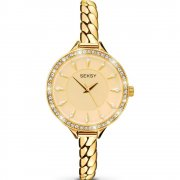 Seksy Embrace gold dial stainless steel bracelet Ladies watch 2096